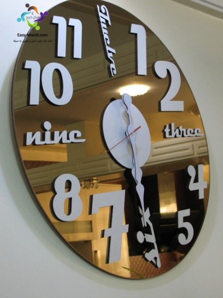 ساعت دیواری آینه ای گلگسی