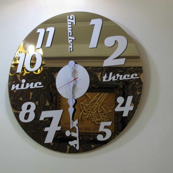 ساعت دیواری گلگسی برنزی