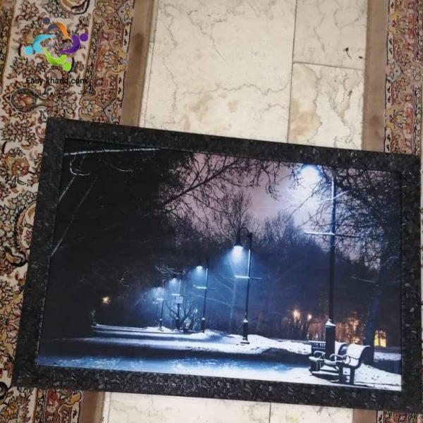 تابلو نوری مدل خیابان برفی و سرد