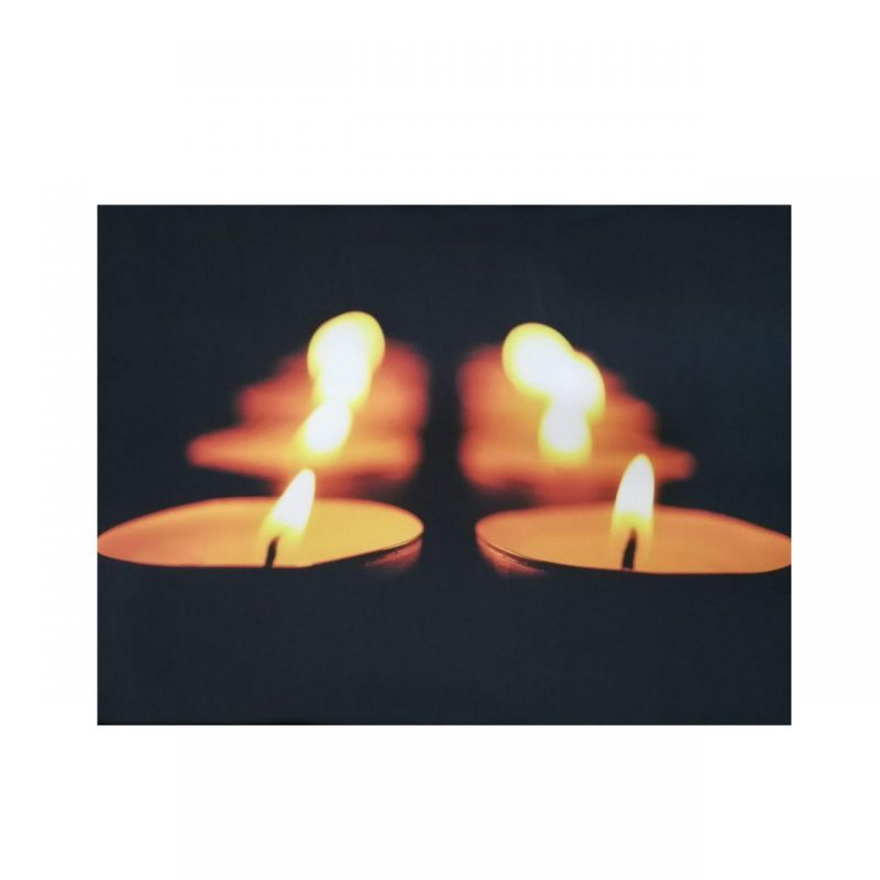 تابلو نوری طرح شمع سوزان