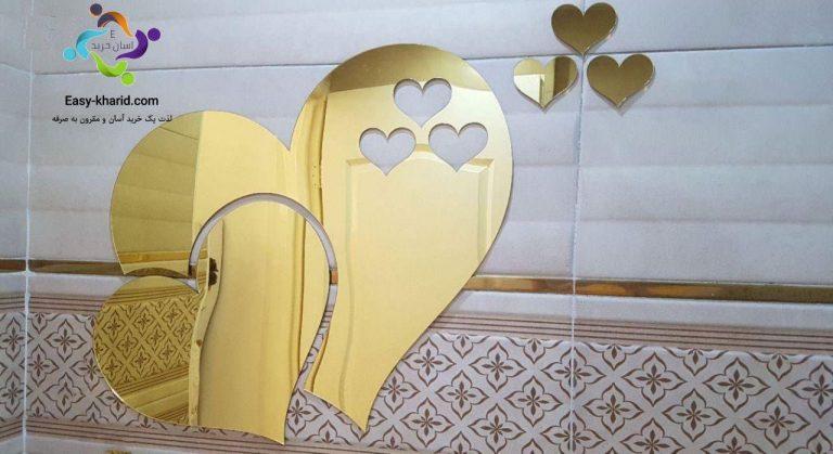 آینه پلکسی گلس طرح قلب