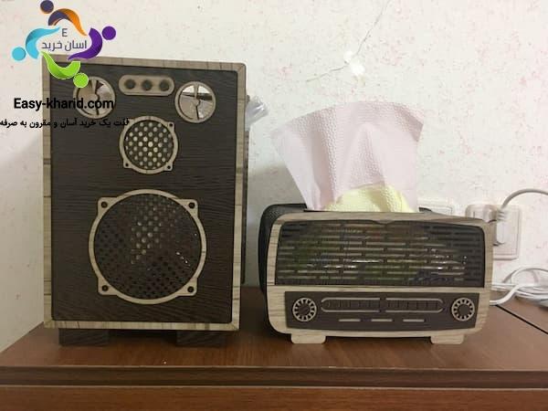 سطل جا دستمال کاغذی رادیویی