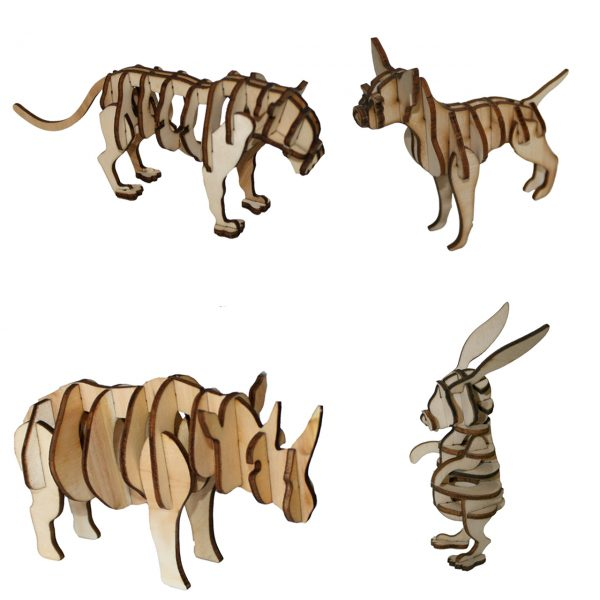 پازل سه بعدی حیوانات برتاریو