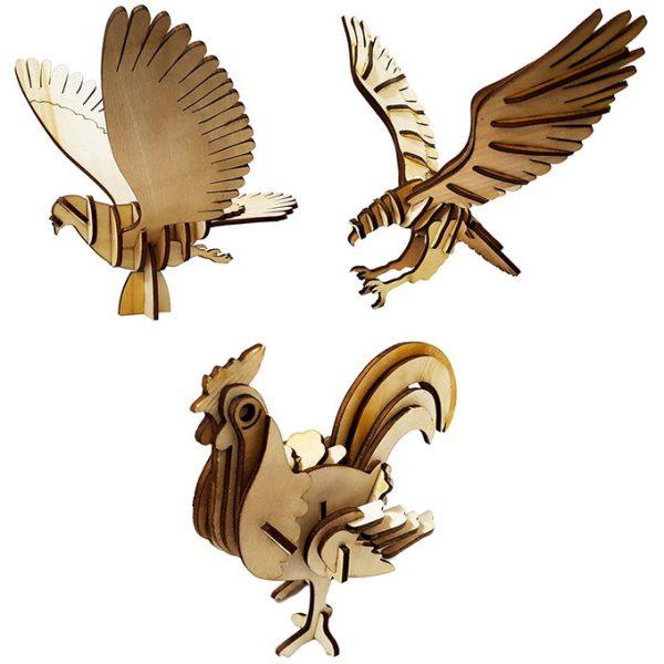 پازل سه بعدی مدل پرندگان