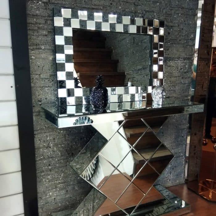 کنسول آینه ای طرح الماس