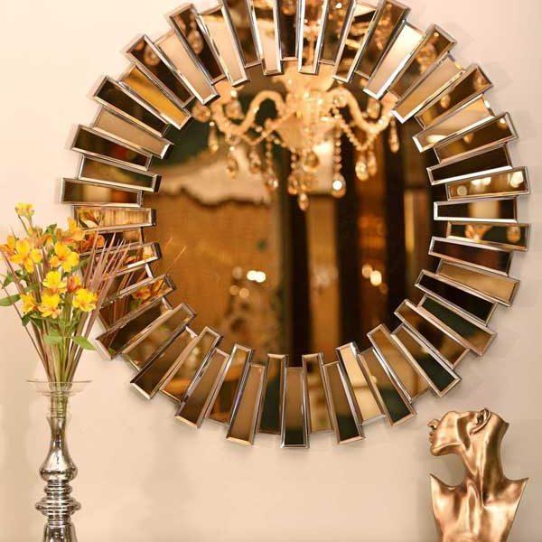 آینه خورشیدی طلایی لوکس